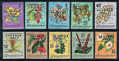 Guyana 1975 Revenue Only ovpt SG F 1-10 MNH
