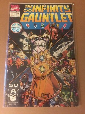 INFINITY GAUNTLET #1 (1991) Avengers! THANOS! First Print! High Grade Key Issue!