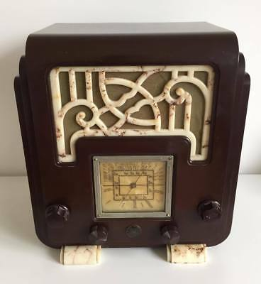 The Fisk A.W.A Radiolette Fret and Foot bakelite VINTAGE RADIO AM