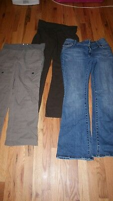 Womens Misses Maternity Pants Lot Of 3 Size Medium Very Good Condition