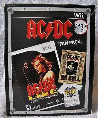 Wii - Ac/dc Fan Pack - Includes No Bull Dvd & Black Ice T-Shirt - Great Gift!!