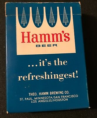 Rare HAMM'S  BEER  playing card - rare deck - opened, but not used -