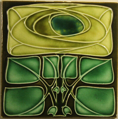 Art Nouveau Tile Antique