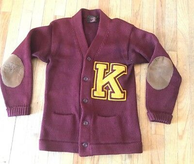 Vintage 1920's O'Shea Knitting Mills Chicago Wool Letter Sweater