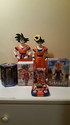 dragon ball z figures lot of 6 (included a rare game)