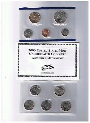 2006 P&D Complete Uncirculated Set of * 20 * Coins US Mint Sealed Box COA U02