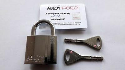 Abloy Protec2 PL 330 Padlock With 2 Keys And ID Card