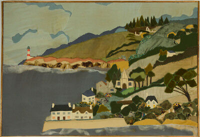 Myrtle Mitchell - Contemporary Embroidery, Patchwork Coastal Landscape