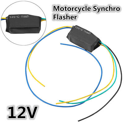 12V Universal Motorcycle LED Turn Signal Light Blinker Flasher Relay Switch 120W