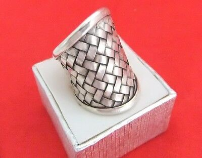 Vintage 925 Sterling Silver Handcrafted Weave Ring