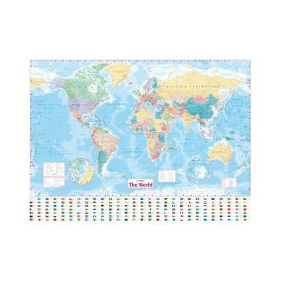 Collins World Wall Laminated Map by Collins Maps
