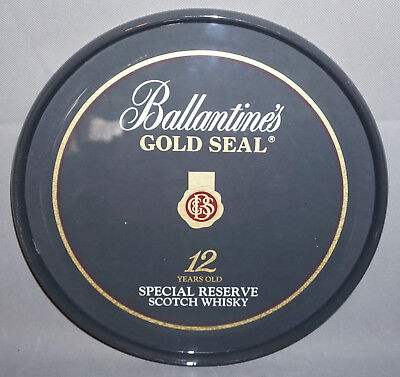 Ballantines Gold Seal 12 Years Scotch Whisky Whiskey Servier Kellner Tablett Bar