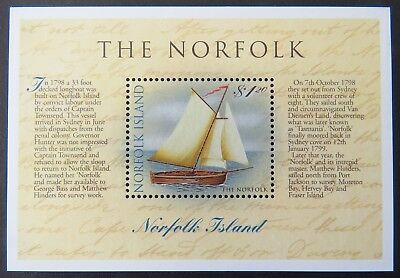 1998 Norfolk Island Stamps - 'The Norfolk' Sloop - Mini Sheet MNH