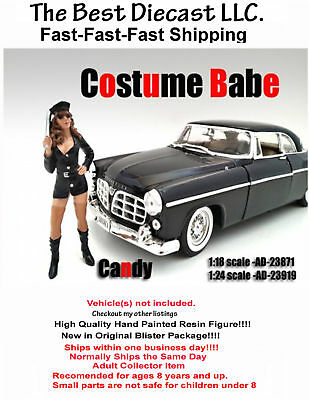 Costume Babe Candy American Diorama 1:24 Resin Figure Sexy Girl Police