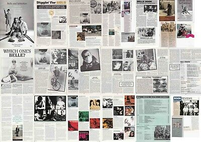 BELLE AND SEBASTIAN : CUTTINGS COLLECTION -interviews adverts-