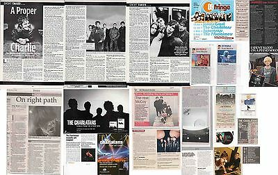 THE CHARLATANS : CUTTINGS COLLECTION -interviews adverts-