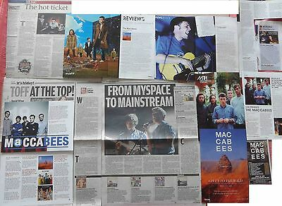 THE MACCABEES : CUTTINGS COLLECTION -interviews adverts-