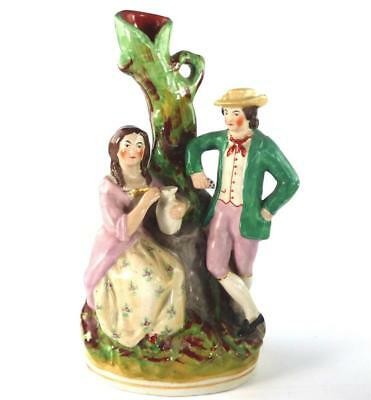 Kent Staffordshire Pottery Figure Of Lady And Man