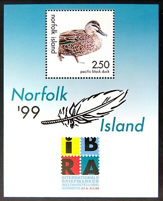 1999 Norfolk Island Stamps - IBRA '99 Stamp Exhibition Mini Sheet MNH