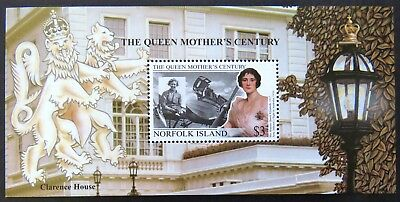 1999 Norfolk Island Stamps - Queen Mother's Century - Mini Sheet MNH