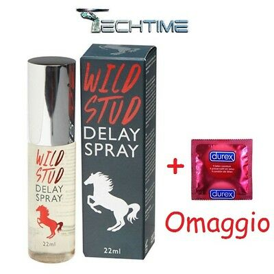 Spray Ritardante Wild Stud Delay Spray 22Ml Eiaculazione Precoce + Durex Omaggio