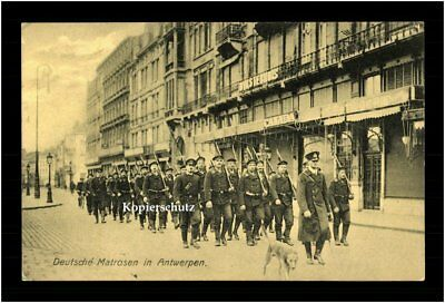 Deutsche Kriegsmarine c 1915 Deutsche Matrosen in Antwerpen WW 1 German Navy RAR