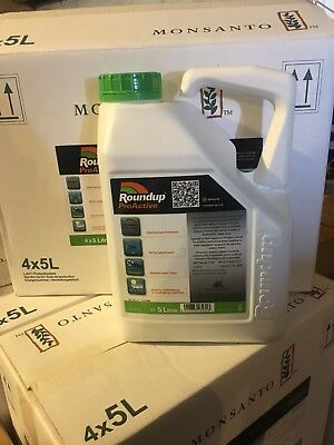 Roundup ProBiactive 360 Strong Glyphosate Professional Weedkiller 5 Ltr Weeds
