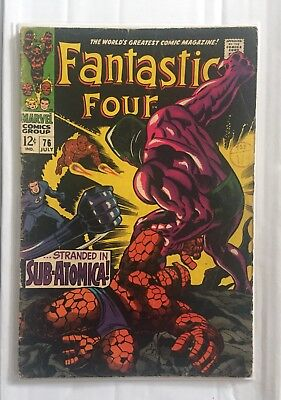 FANTASTIC FOUR # 76 SILVER SURFER KIRBY 12c 1968 SILVER AGE MARVEL COMIC BOOK