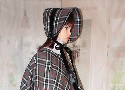 NEW Ladies Victorian Dickensian Gentry 3 pc steampunk Gothic Costume Fancy Dress