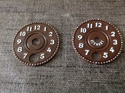 Pair Cuckoo Clock Faces Dials Spare Parts New Old Stock 40mm