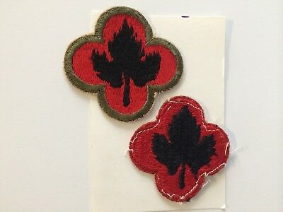 U. S. Army 43Rd Infantry Division Colored Patches (World War Ii)
