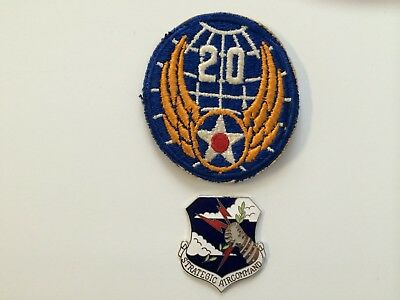 U. S. 20Th Army Air Force Colored Patch And Insignia Shield (World War Ii)