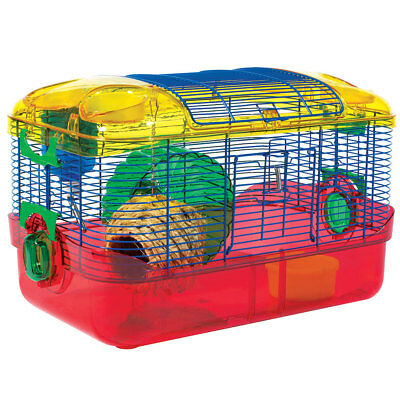 Critter Trail Small Animal Hamster, Gerbal, Mice Cage One Level Home Habitat