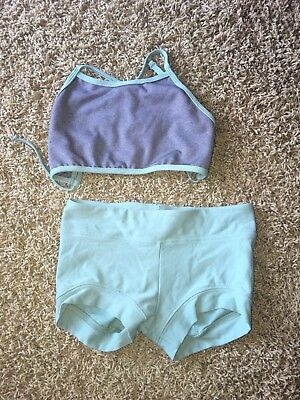 Girls Katrina Dancewear Tie Back Top Shorts CL Child Large EX!