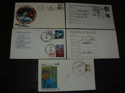 SHUTTLE 5 cover, 13x orig.signed Astronauts, SPACE