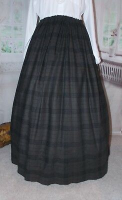 New Ladies Victorian Skirt whitby Costume Brown Steampunk Adult Fancy Dress