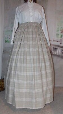 New Ladies Victorian Skirt whitby Costume Beige Steampunk Adult Fancy Dress