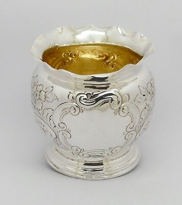 Rare Beautiful Victorian Solid Silver Bowl Hm Chester 1898 Art Nouveau Design