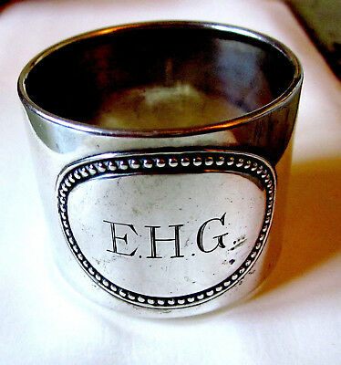 1925 Lutz & Weiss Napkin Ring 800 Silver ~ Engraved