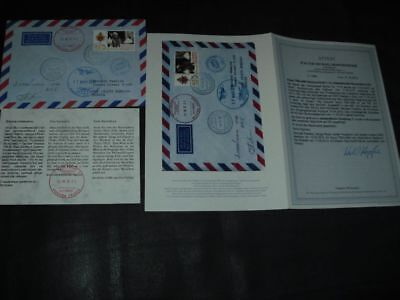 SOJUS TMA-04 Boardpost, cover flown to ISS 2012, COA, SPACE