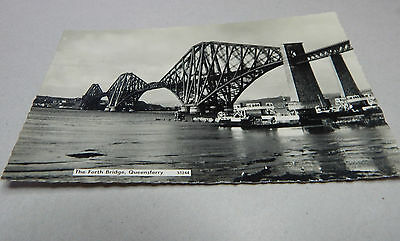 The forth bridge Queensferry Real photo posted 1960's art