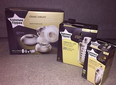 BRAND NEW Tommee Tippee Closer to Nature Electric Breast Pump & Express And Go
