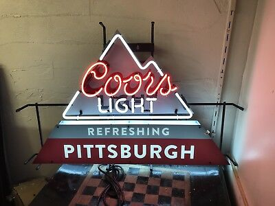 Pittsburgh Coors Light Neon Sign