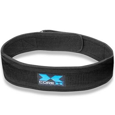 "CoreX Fitness Neoprene Padded Weight Lifting Belt 4"" Inch Back Support"