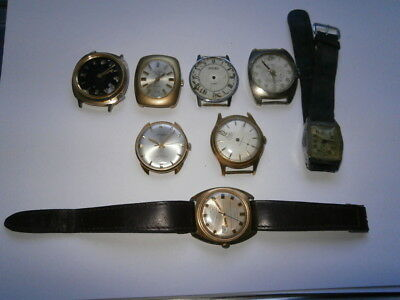 Job lot of vintage gents watches mechanical watches spares or parts incomplete