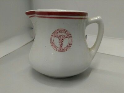 WW2 US Army Medical Department Creamer Pitcher 1941 Shenango China nice