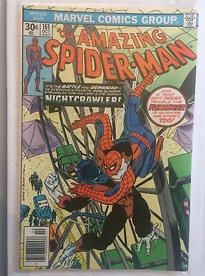 AMAZING SPIDER-MAN #161 October 1976 VF+ NIGHTCRAWLER X-MEN PUNISHER!