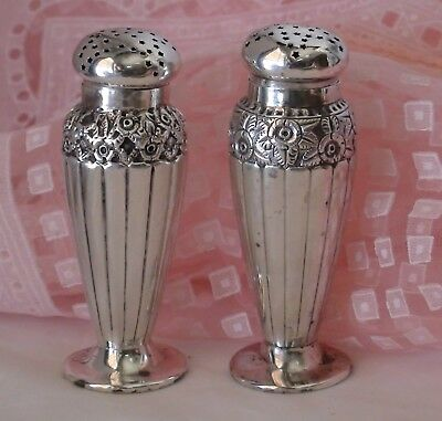 Reed & Barton Antique Sterling Silver Salt & Pepper Shakers