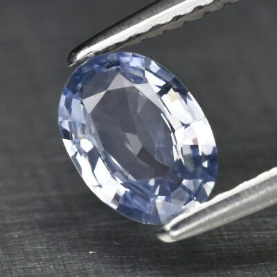 Clean! 0.79ct 7x5mm VVS Oval Natural Light Blue Sapphire Madagascar, Heated Only