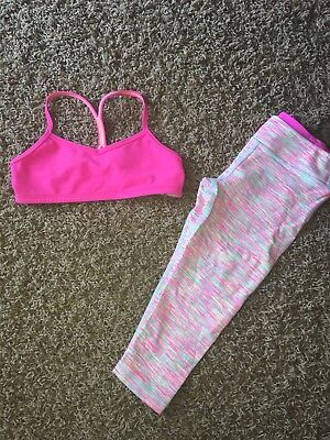 Girls Ivivva Cropped Pants Sports Bra Top 6 8 Ex!